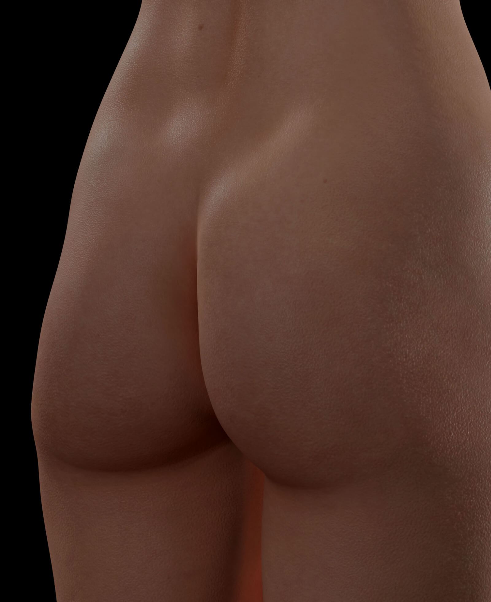 Buttocks of a Clinique Chloé female patient looking for a butt lift