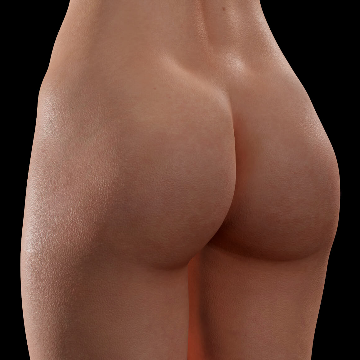 Female patient from Clinique Chloé positioned at an angle after a non-surgical butt lift treatment with Sculptra injections