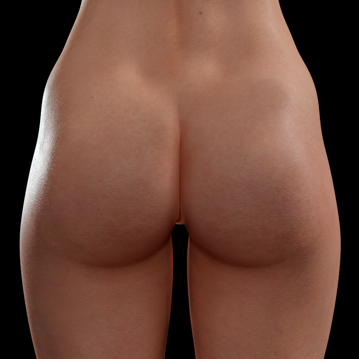 Back of a female patient from Clinique Chloé after a non-surgical butt lift treatment with Sculptra injections