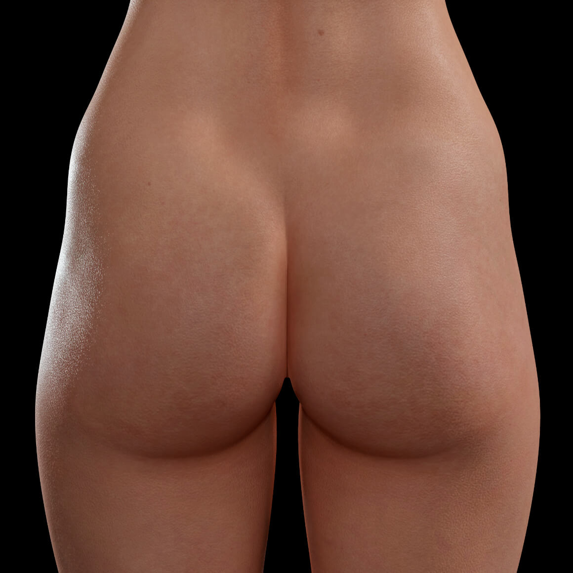 Back of a female patient from Clinique Chloé before a butt lift treatment