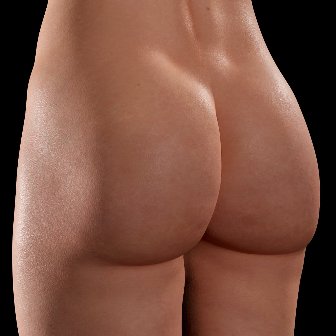 A female patient at Clinique Chloé positioned at an angle after Sculptra injections in the buttocks for cellulite treatment