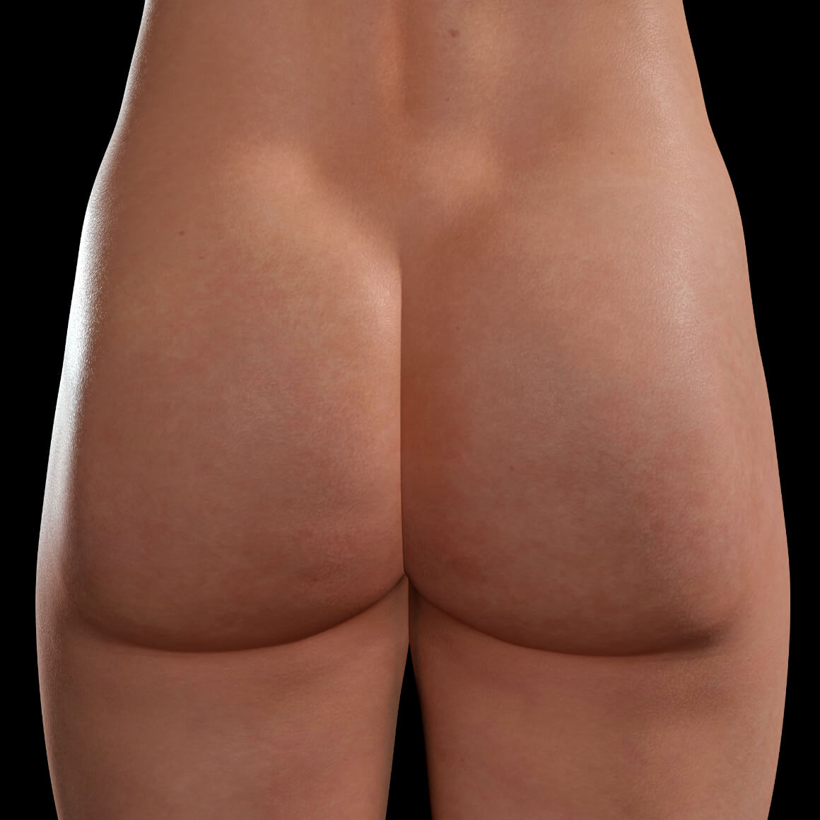 Buttocks of a female patient from Clinique Chloé after a Venus Legacy cellulite treatment