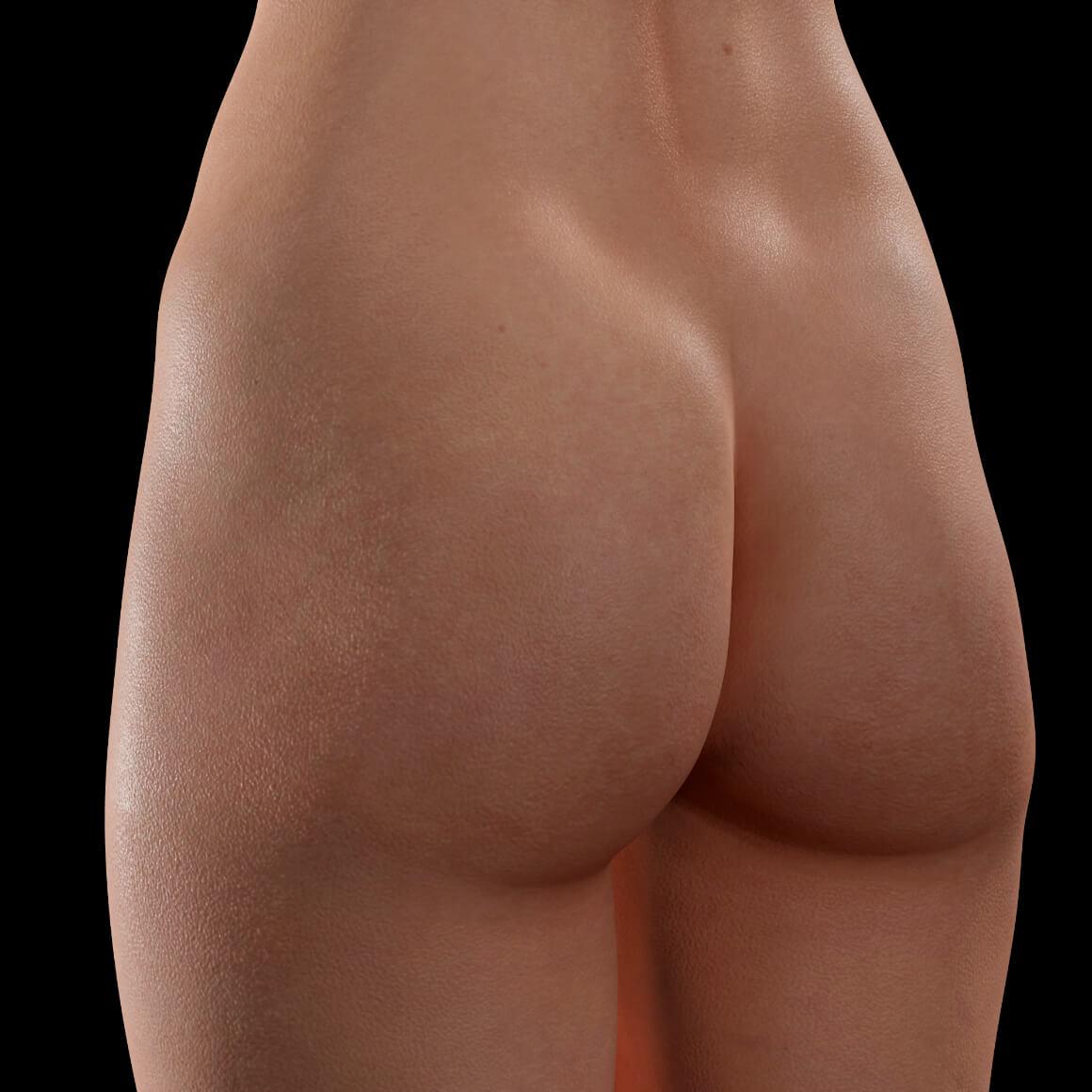 Patient de la Clinique Chloé positionné en angle avant un traitement d'augmentation des fesses